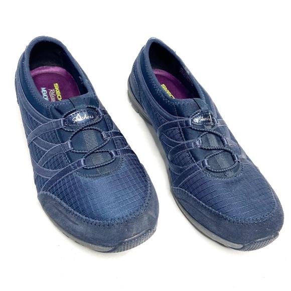 Sketchers Relaxed Fit Memory Foam blue sneakers